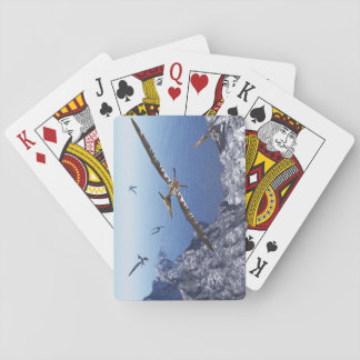 Pteranodon birds - 3D render Playing Cards