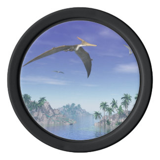Pteranodon birds  - 3D render Poker Chips Set
