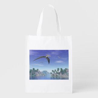 Pteranodon birds  - 3D render Reusable Grocery Bag