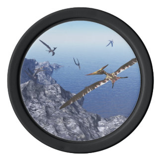 Pteranodon birds - 3D render Set Of Poker Chips