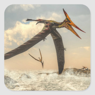 Pteranodon birds - 3D render Square Sticker