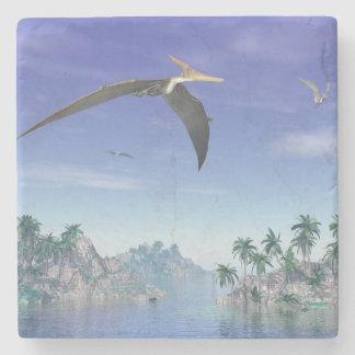 Pteranodon birds  - 3D render Stone Coaster