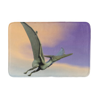 Pteranodon dinosaur flying - 3D render Bath Mat