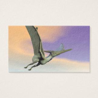 Pteranodon dinosaur flying - 3D render Business Card