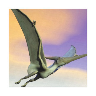Pteranodon dinosaur flying - 3D render Canvas Print