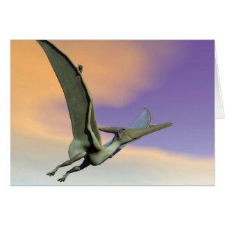 Pteranodon dinosaur flying - 3D render Card