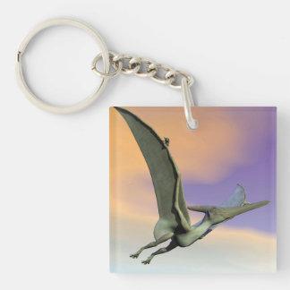 Pteranodon dinosaur flying - 3D render Keychain