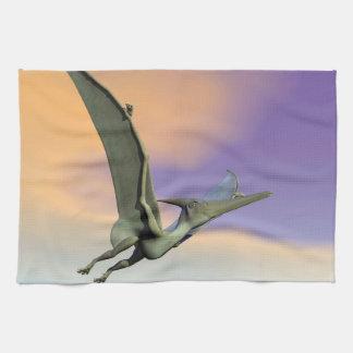 Pteranodon dinosaur flying - 3D render Kitchen Towel