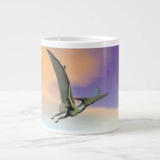 Pteranodon dinosaur flying - 3D render Large Coffee Mug