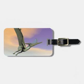 Pteranodon dinosaur flying - 3D render Luggage Tag