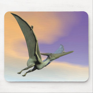 Pteranodon dinosaur flying - 3D render Mouse Pad