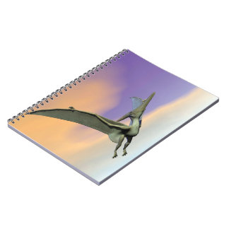 Pteranodon dinosaur flying - 3D render Notebooks