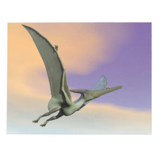 Pteranodon dinosaur flying - 3D render Notepad