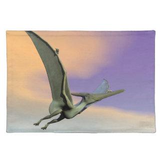 Pteranodon dinosaur flying - 3D render Placemat
