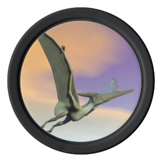 Pteranodon dinosaur flying - 3D render Poker Chip Set