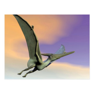 Pteranodon dinosaur flying - 3D render Postcard
