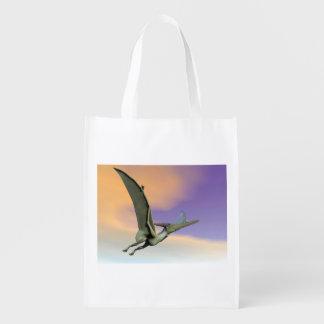 Pteranodon dinosaur flying - 3D render Reusable Grocery Bag