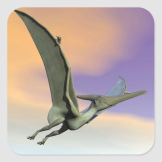 Pteranodon dinosaur flying - 3D render Square Sticker