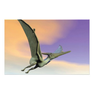 Pteranodon dinosaur flying - 3D render Stationery