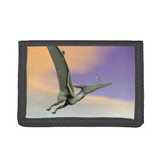 Pteranodon dinosaur flying - 3D render Tri-fold Wallets