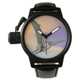 Pteranodon dinosaur flying - 3D render Wrist Watch