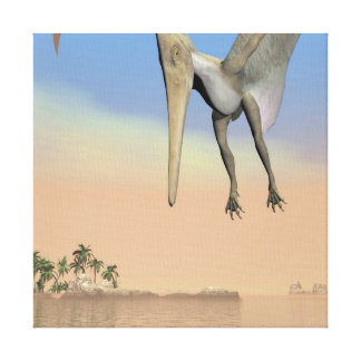 Pteranodon dinosaurs fishing - 3D render Canvas Print