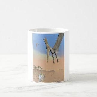 Pteranodon dinosaurs fishing - 3D render Coffee Mug