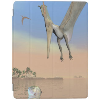 Pteranodon dinosaurs fishing - 3D render iPad Cover