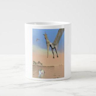 Pteranodon dinosaurs fishing - 3D render Large Coffee Mug