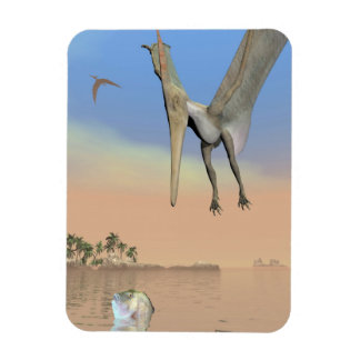 Pteranodon dinosaurs fishing - 3D render Magnet