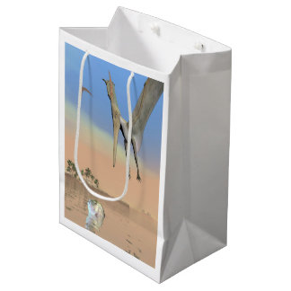 Pteranodon dinosaurs fishing - 3D render Medium Gift Bag