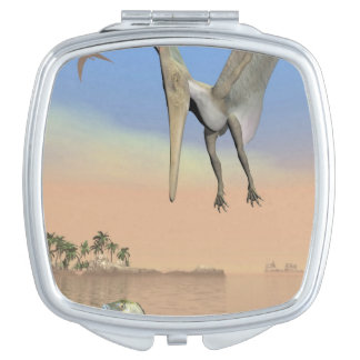 Pteranodon dinosaurs fishing - 3D render Mirrors For Makeup