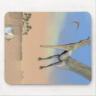 Pteranodon dinosaurs fishing - 3D render Mouse Pad