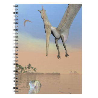 Pteranodon dinosaurs fishing - 3D render Spiral Notebook