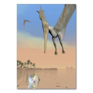 Pteranodon dinosaurs fishing - 3D render Table Card