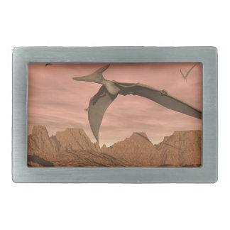 Pteranodon dinosaurs flying - 3D render Belt Buckles
