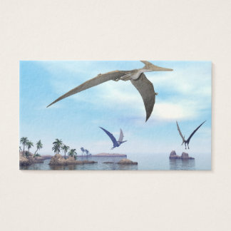 Pteranodon dinosaurs flying - 3D render Business Card