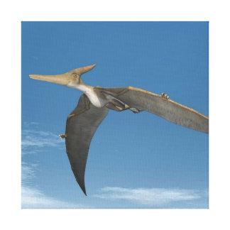 Pteranodon dinosaurs flying - 3D render Canvas Print