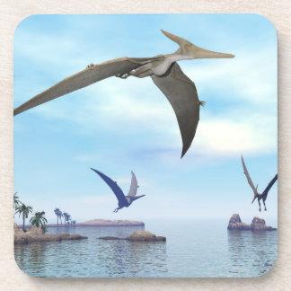 Pteranodon dinosaurs flying - 3D render Coaster