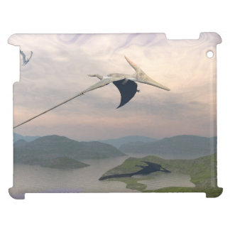 Pteranodon dinosaurs flying - 3D render Cover For The iPad