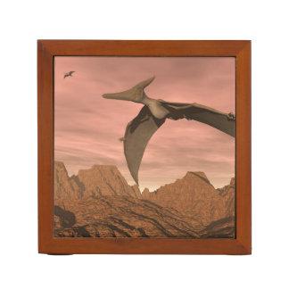 Pteranodon dinosaurs flying - 3D render Desk Organizer
