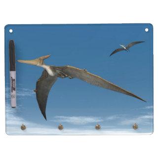 Pteranodon dinosaurs flying - 3D render Dry Erase Whiteboard