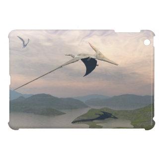 Pteranodon dinosaurs flying - 3D render iPad Mini Cases