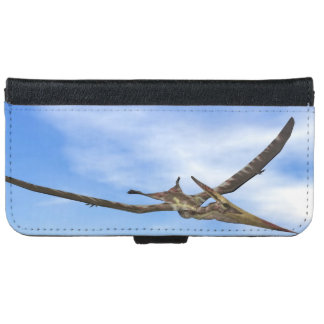 Pteranodon dinosaurs flying - 3D render iPhone 6 Wallet Case