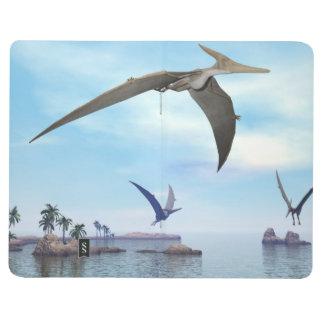 Pteranodon dinosaurs flying - 3D render Journal