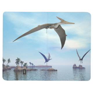 Pteranodon dinosaurs flying - 3D render Journals