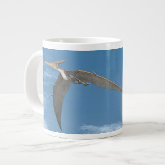 Pteranodon dinosaurs flying - 3D render Large Coffee Mug