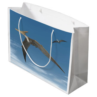 Pteranodon dinosaurs flying - 3D render Large Gift Bag