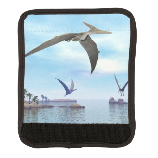 Pteranodon dinosaurs flying - 3D render Luggage Handle Wrap