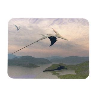 Pteranodon dinosaurs flying - 3D render Magnet